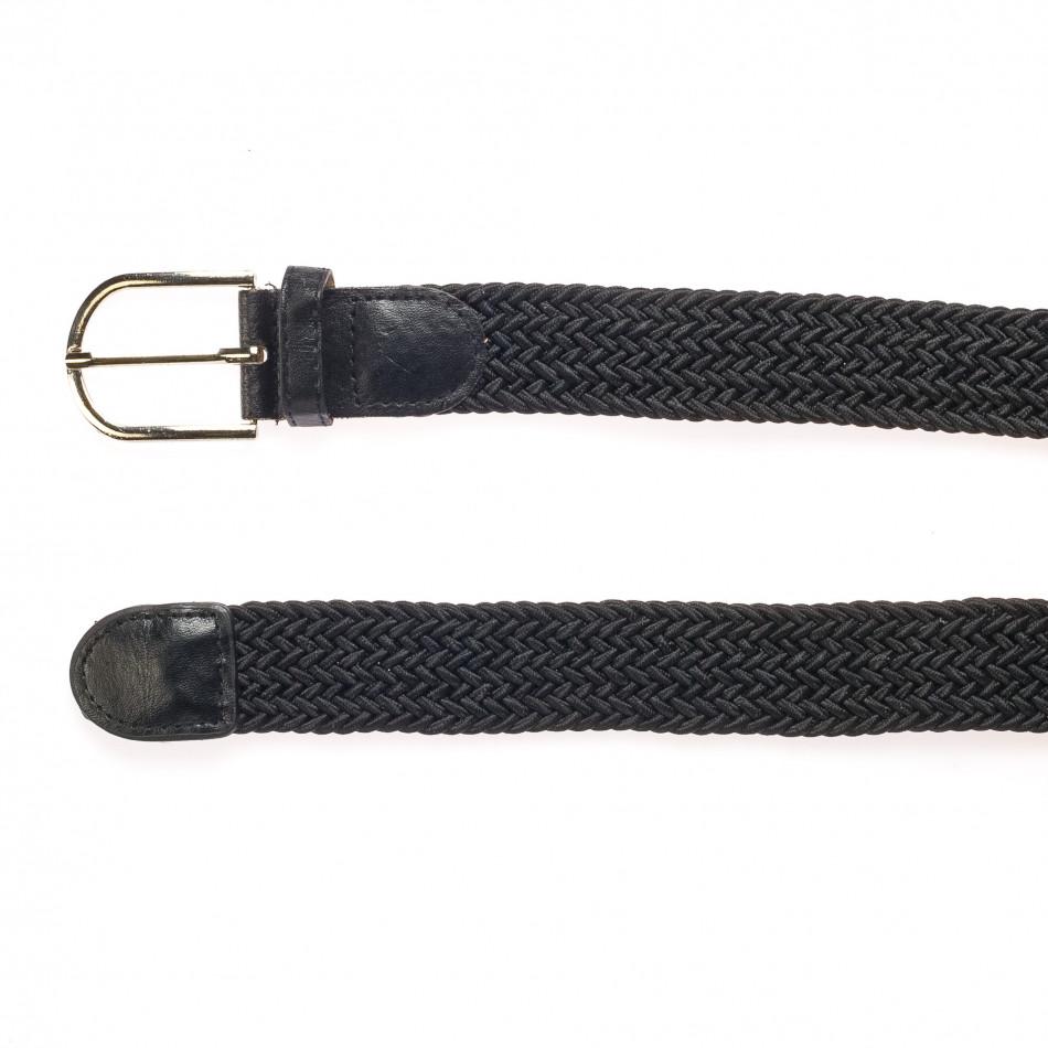 Мъжки черен плетен колан it250915-11