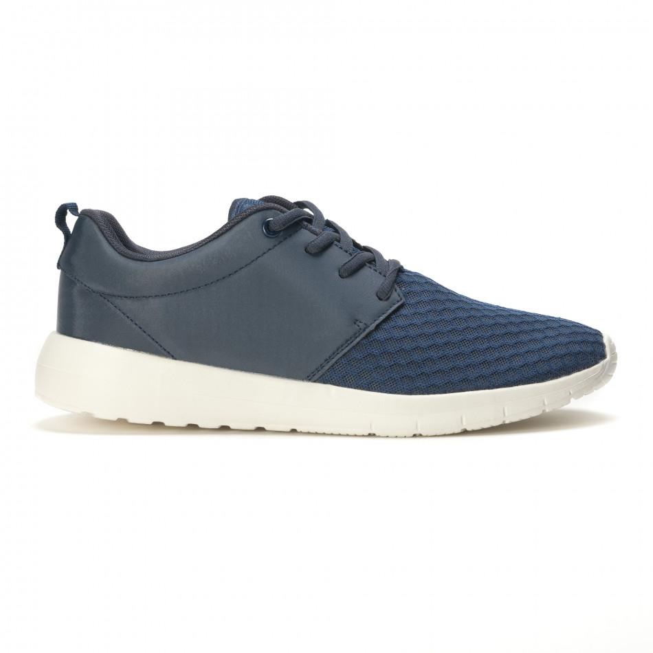 Мъжки сини маратонки олекотен модел it090616-4