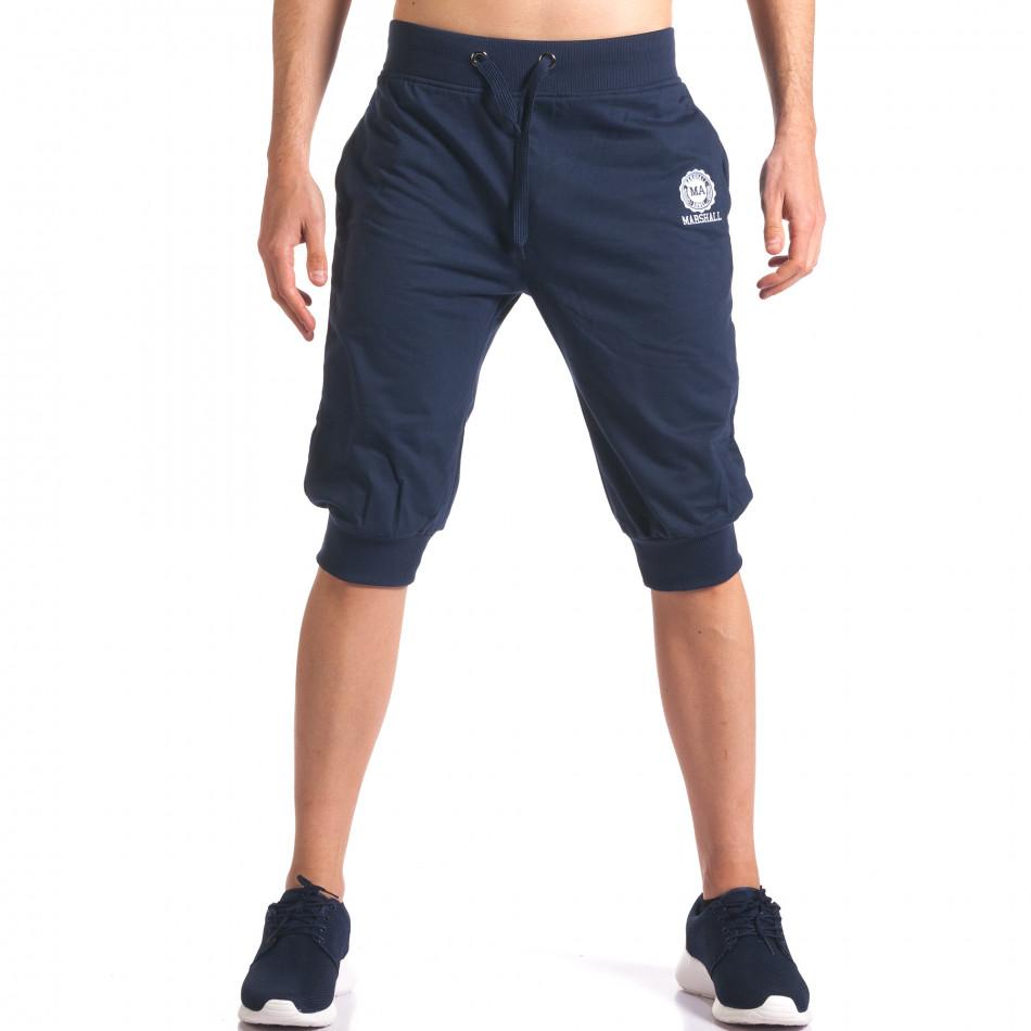 Мъжки сини къси потури със странични джобове it250416-12