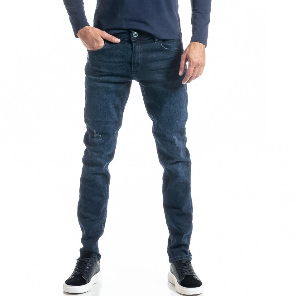 Long Slim мъжки дънки от плътен деним tr300920-1