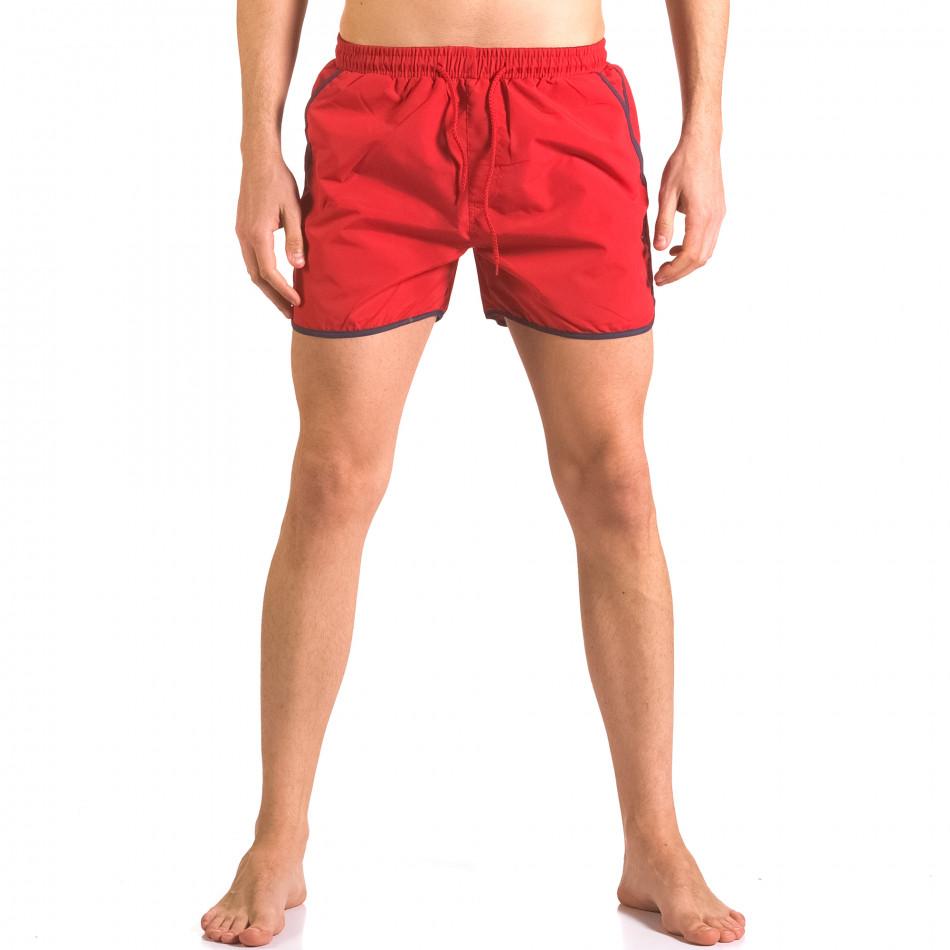 Червени мъжки бански тип шорти с 3 джоба ca050416-11