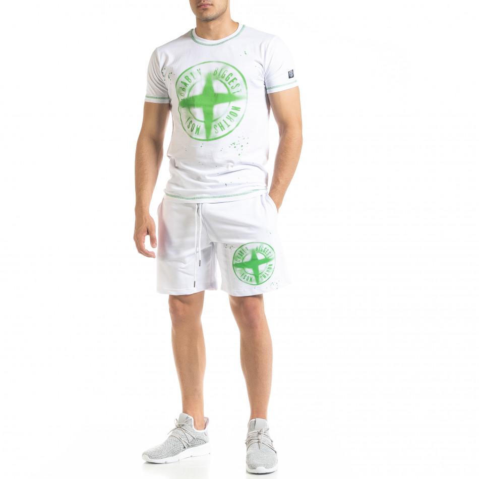 Бял мъжки спортен комплект Compass tr010720-3