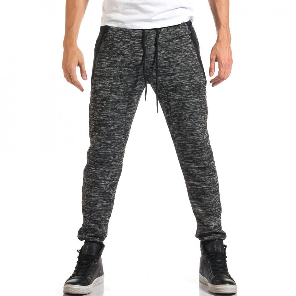 Мъжки тъмно сиви потури с ципове на джобовете it160916-46