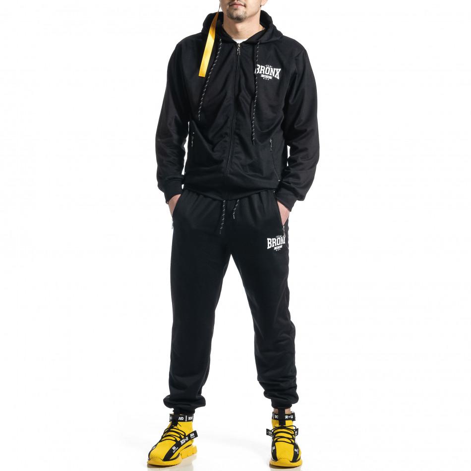 Мъжки черен спортен комплект Big Size it270221-54