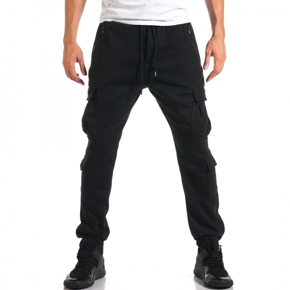 Мъжки черни потури с джобове на крачолите it160916-24