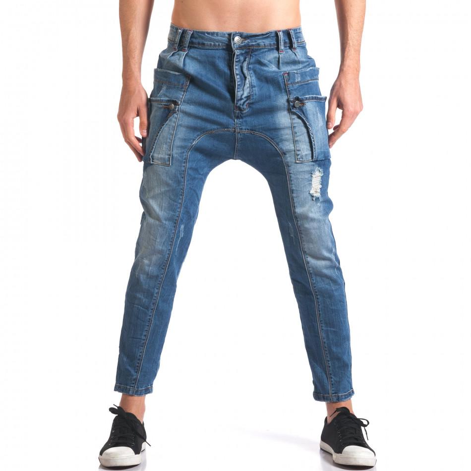 Мъжки дънки потури с яки джобове it250416-23