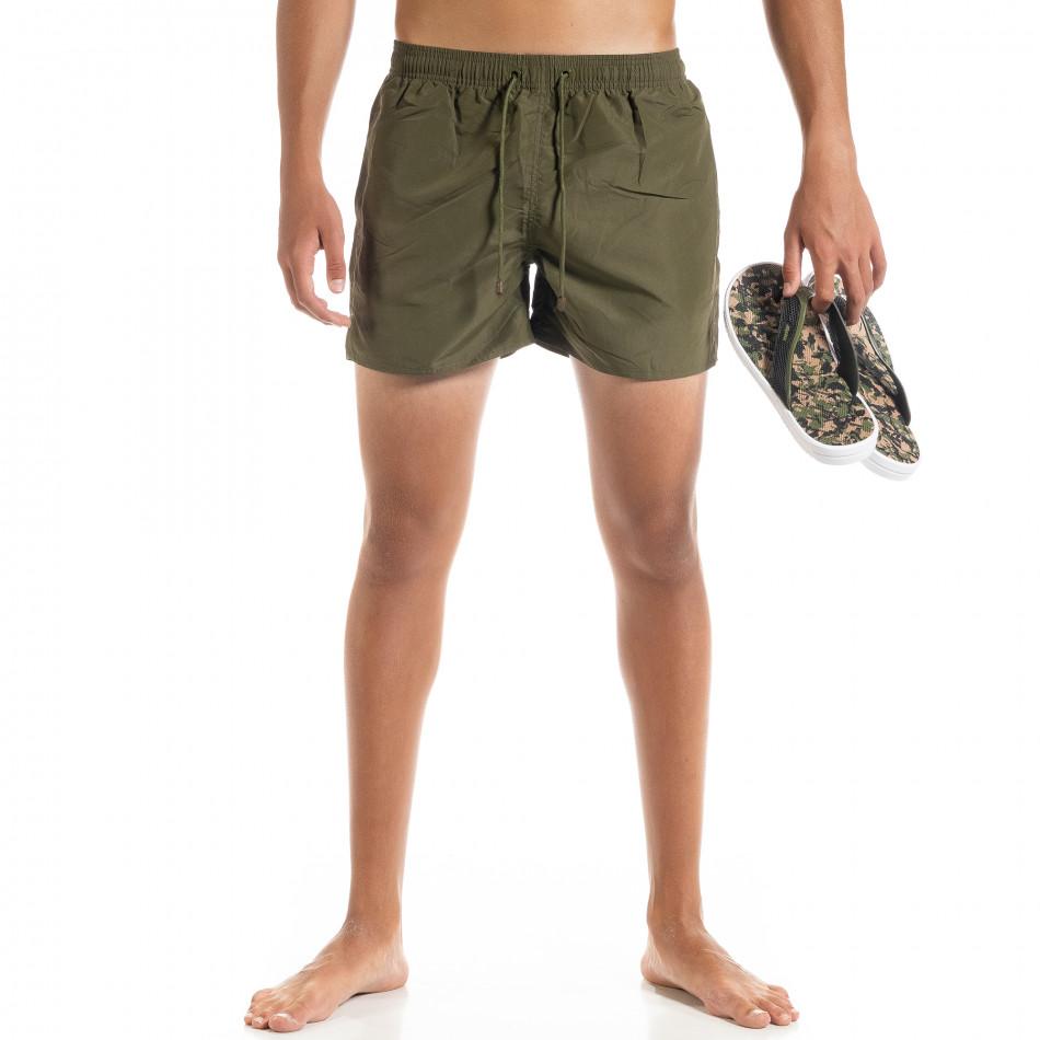 Basic мъжки бански милитъри зелено it010720-39