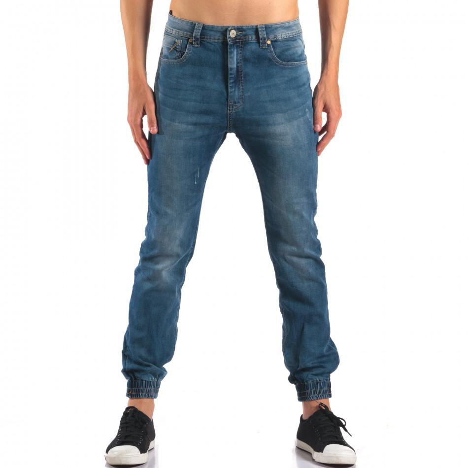 Мъжки летни дънки с еластични маншети на крачолите it160616-34