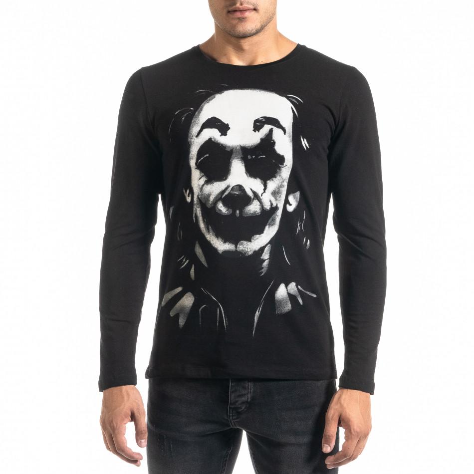 Мъжка черна блуза JOKER tr020920-53