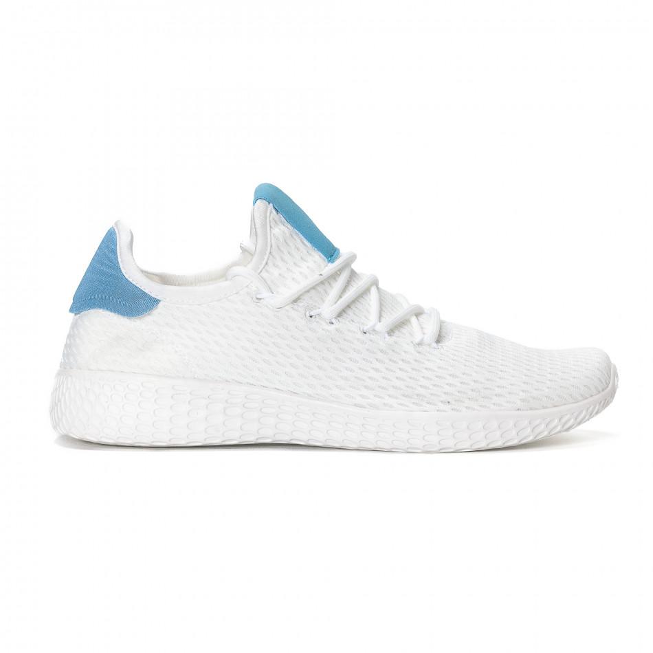 Мъжки синьо-бели леки маратонки  it240418-27