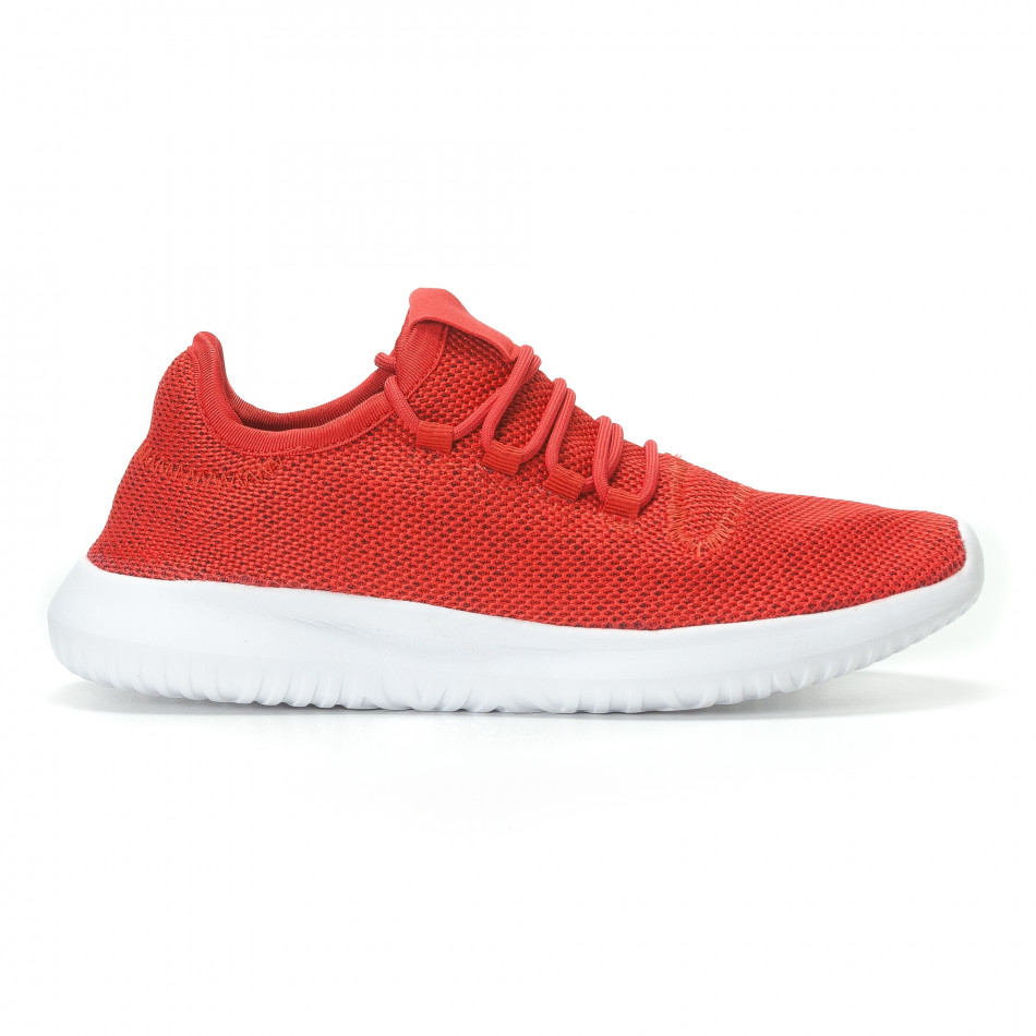 Мъжки червени маратонки олекотен модел it110817-72