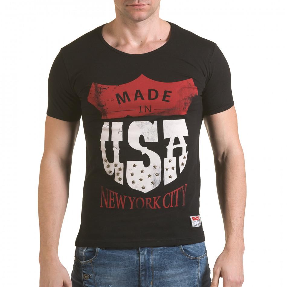 Мъжка черна тениска Made in USA il170216-82