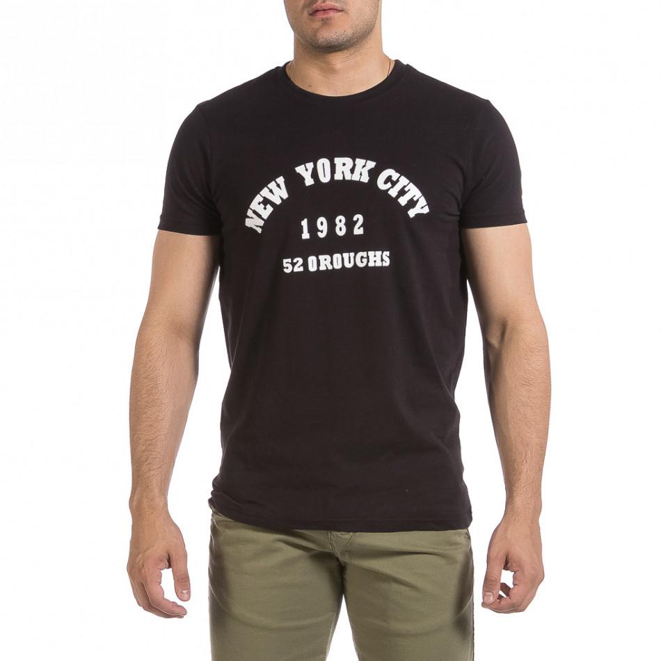 Мъжка черна тениска New York City it040621-10