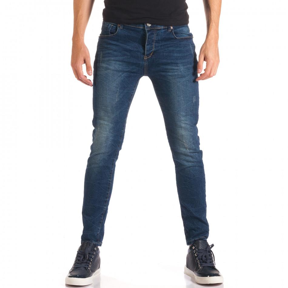 Мъжки дънки с намачкан ефект it150816-38