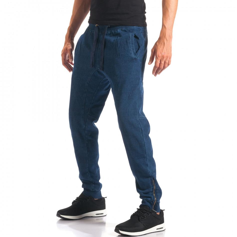 Мъжки сини потури с ефект на дънки it160816-35