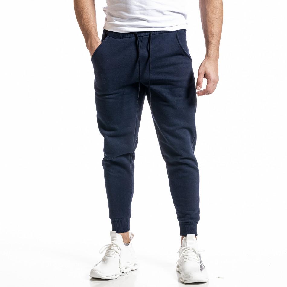 Basic мъжко памучно долнище в синьо it231220-31