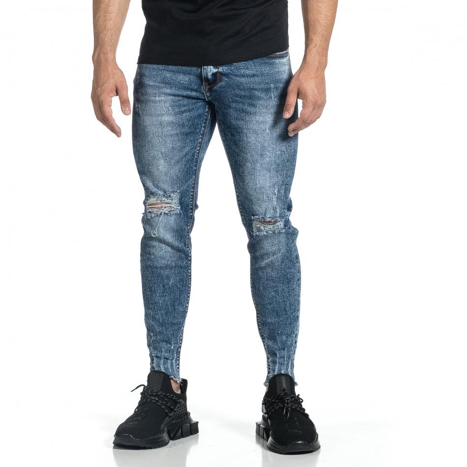 Мъжки дънки с еластични прокъсвания Capri fit it150521-39