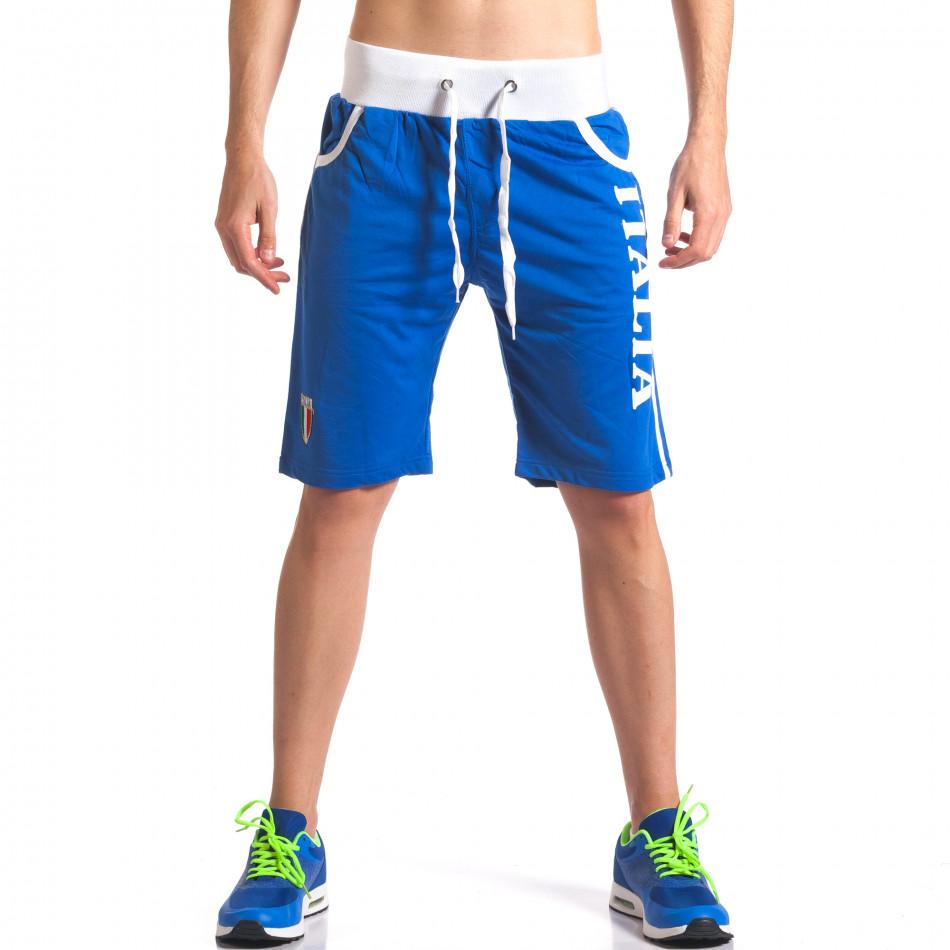 Мъжки сини шорти Italia it260416-18