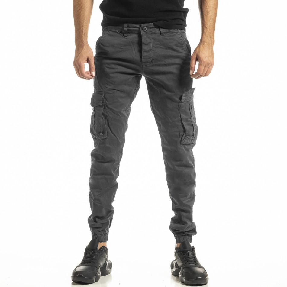 Сив мъжки панталон Cargo Jogger tr161220-20