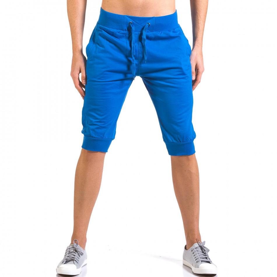 Мъжки сини къси потури класически модел it160316-16