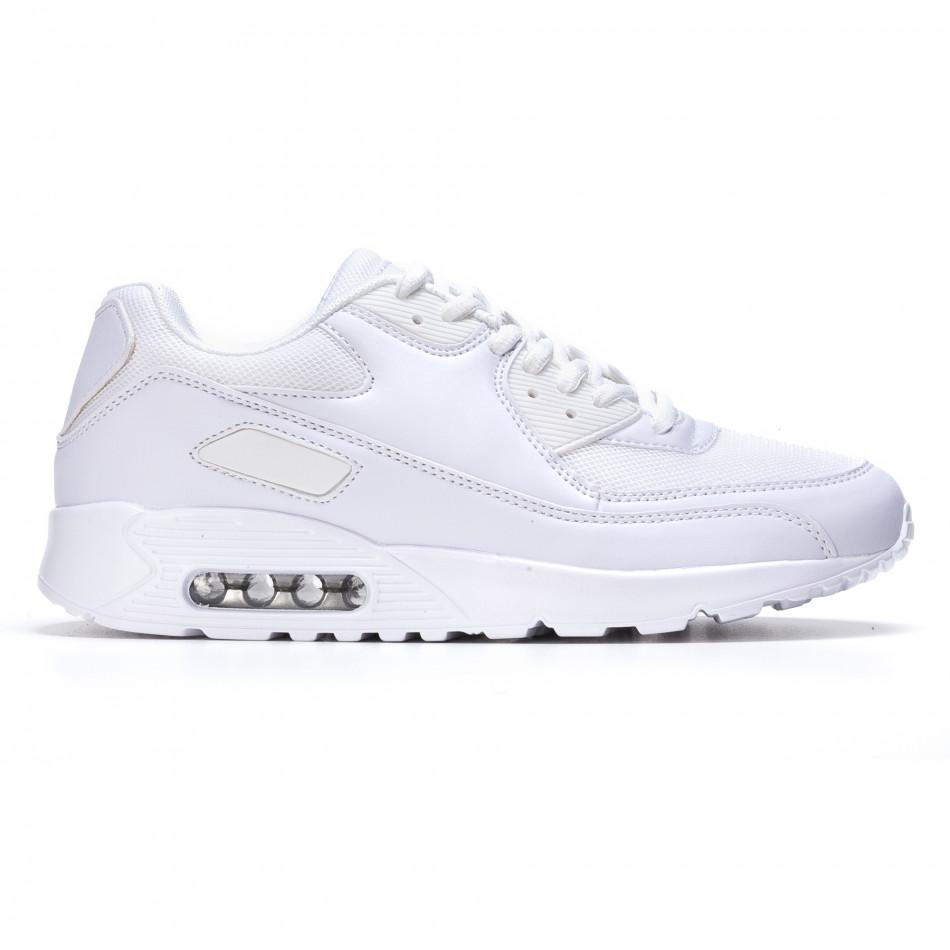 Мъжки бели маратонки с въздушни камери It050216-5