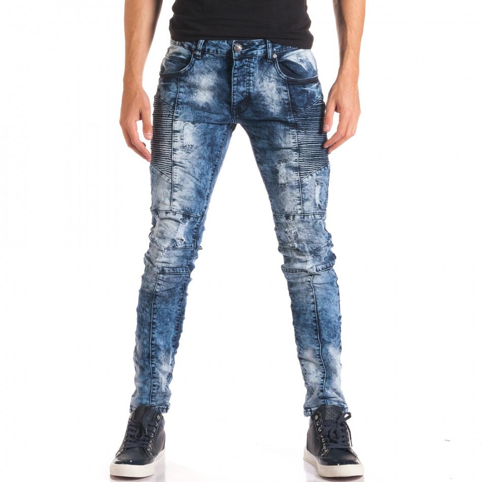 Мъжки дънки с допълнителни шевове it150816-9
