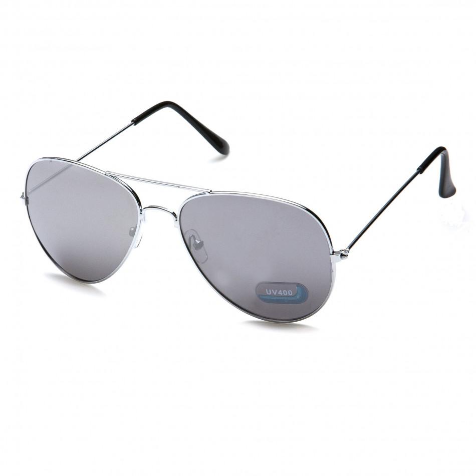 Мъжки сиви авиаторски слънчеви очила it151015-5