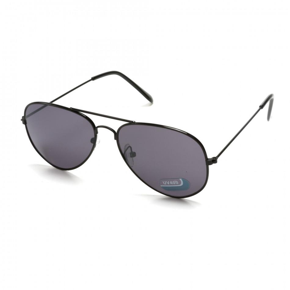Мъжки черни авиаторски слънчеви очила it151015-6