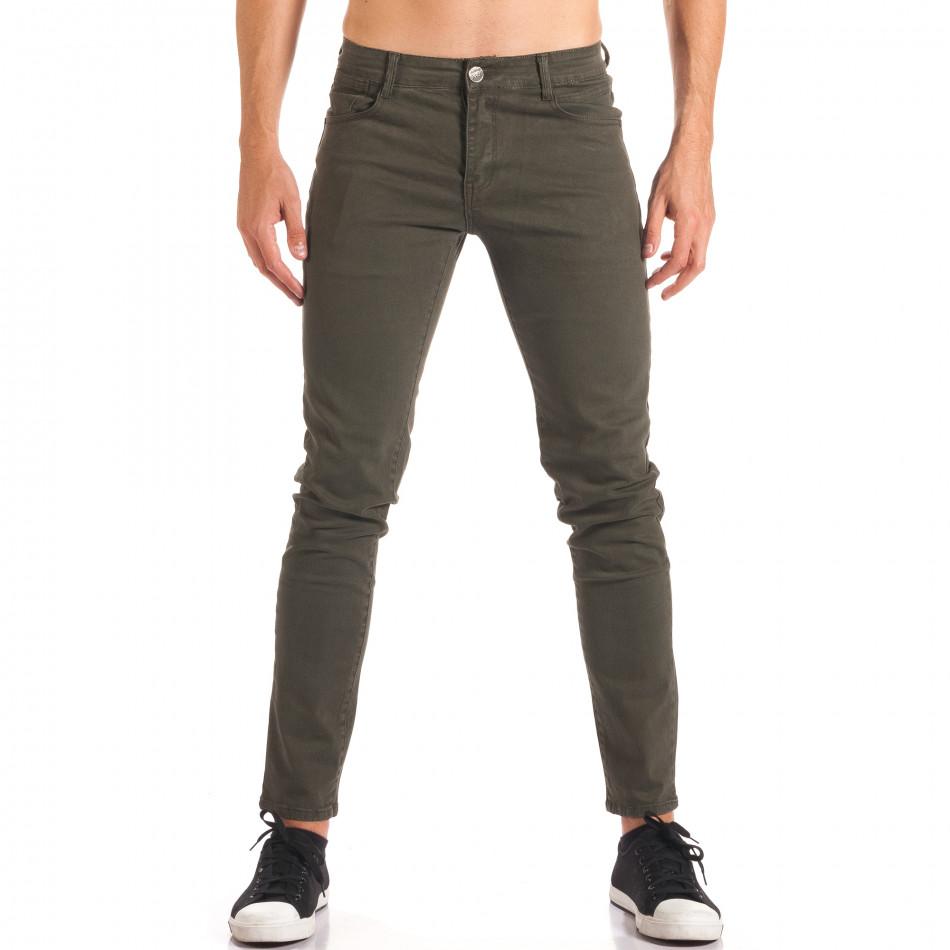 Мъжки зелен спортно-елегантен панталон it150816-5