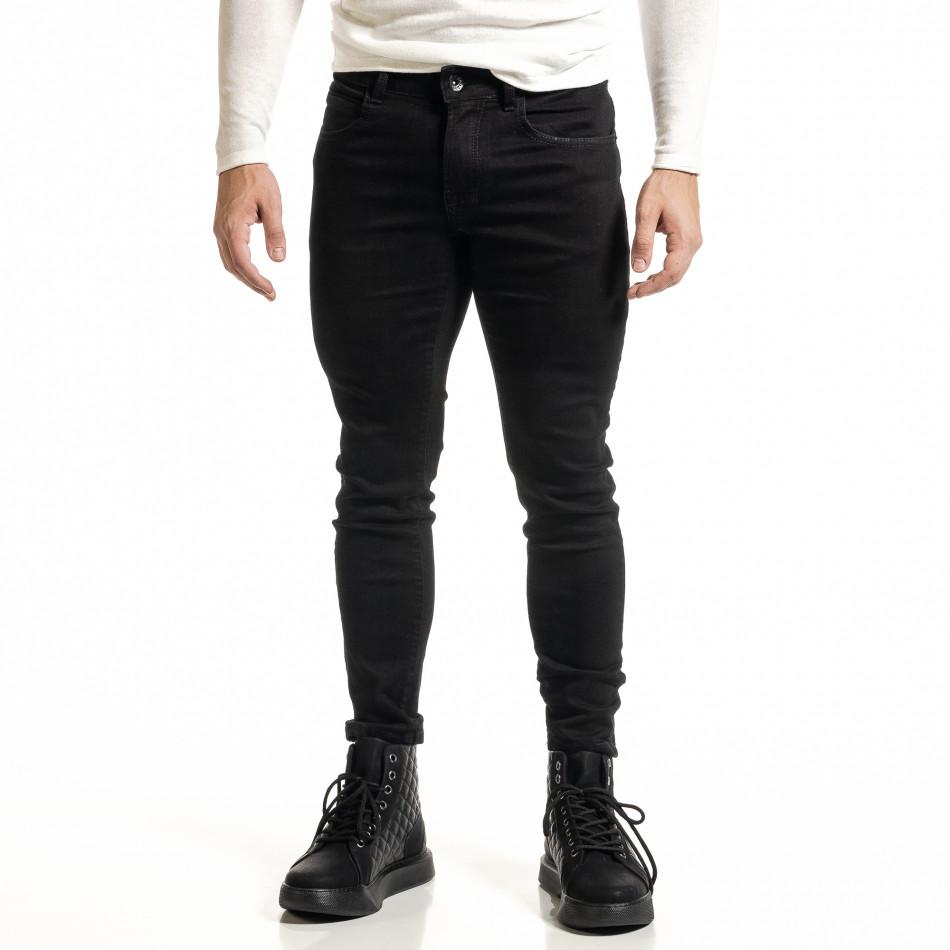 Basic мъжки черни дънки Capri fit it231220-23