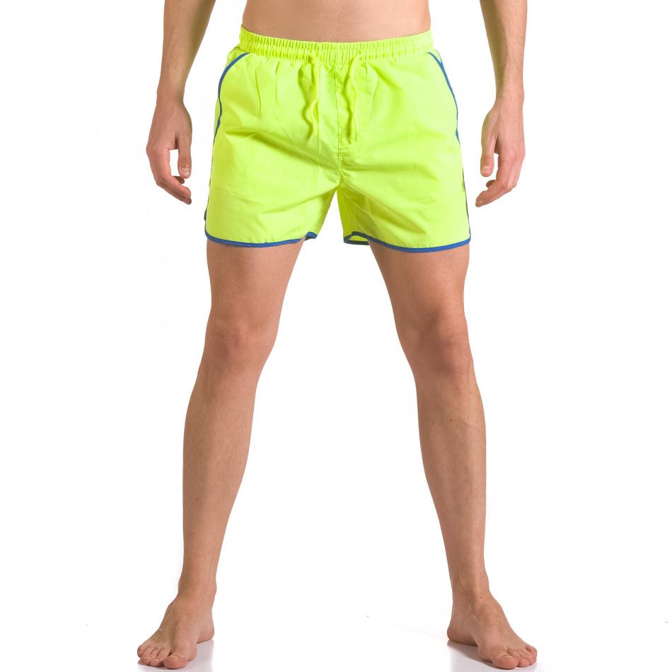 Неоново зелени бански шоорти с джобове ca050416-12