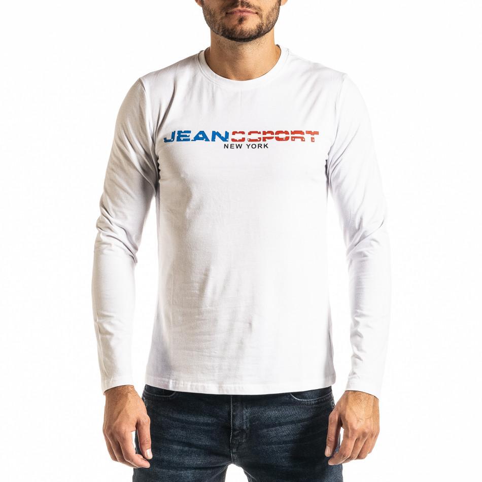 Мъжка бяла блуза Jeans Sport it300920-46