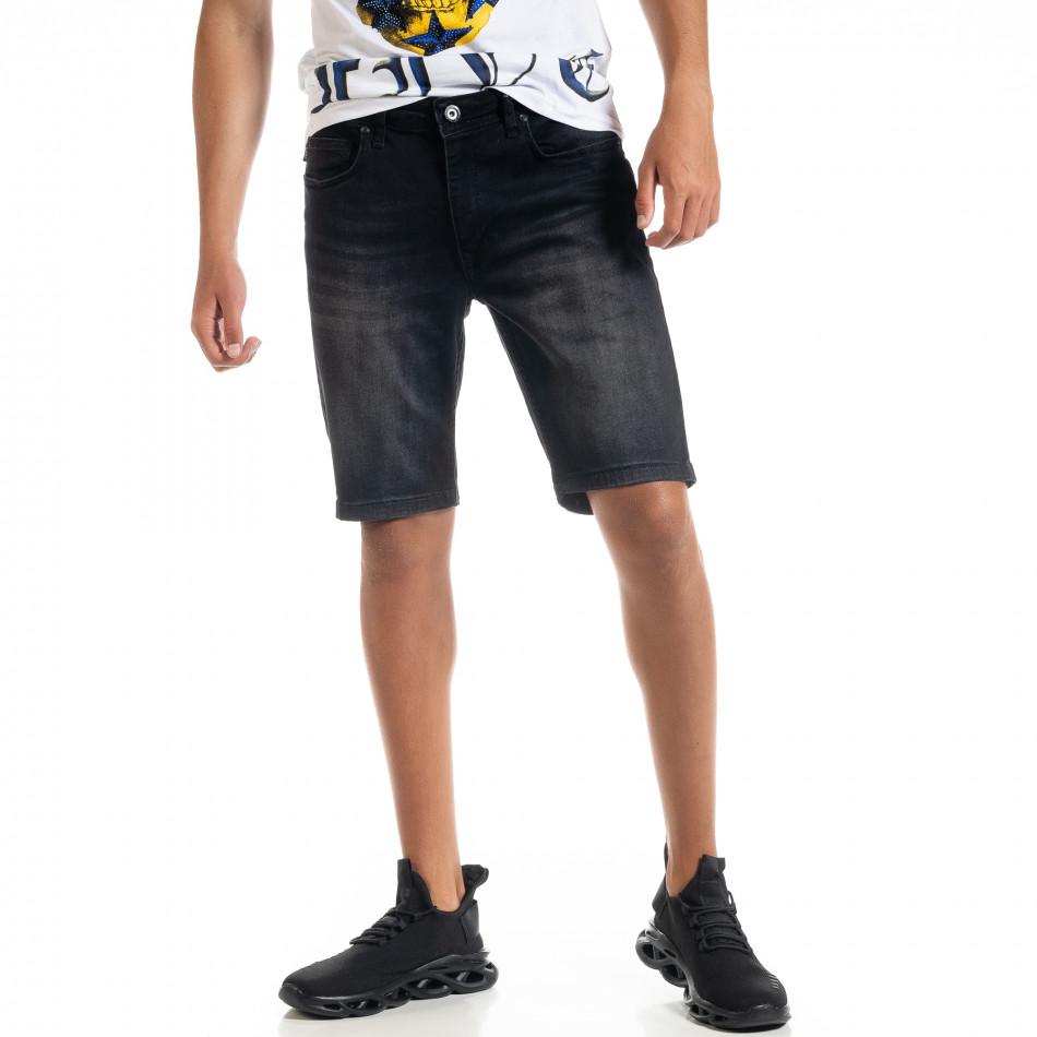 Big Size Basic мъжки черни къси дънки tr010720-18