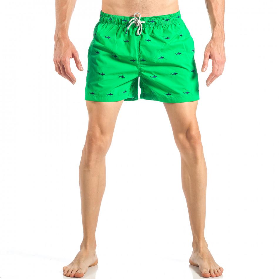 Мъжки зелен бански на акули it040518-102