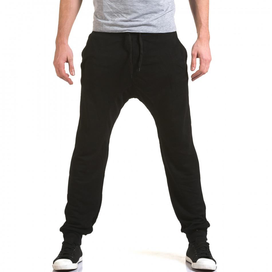 Мъжки черни потури с изчистен дизайн it090216-39