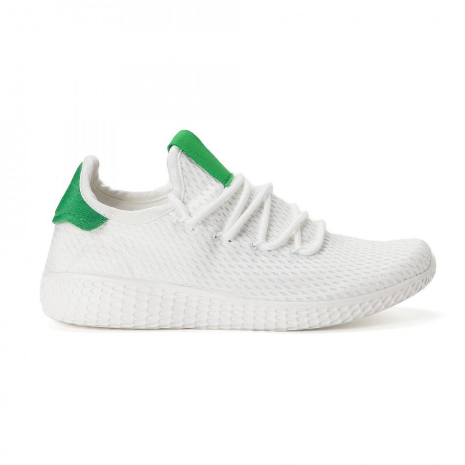 Мъжки зелено-бели леки маратонки it020618-4