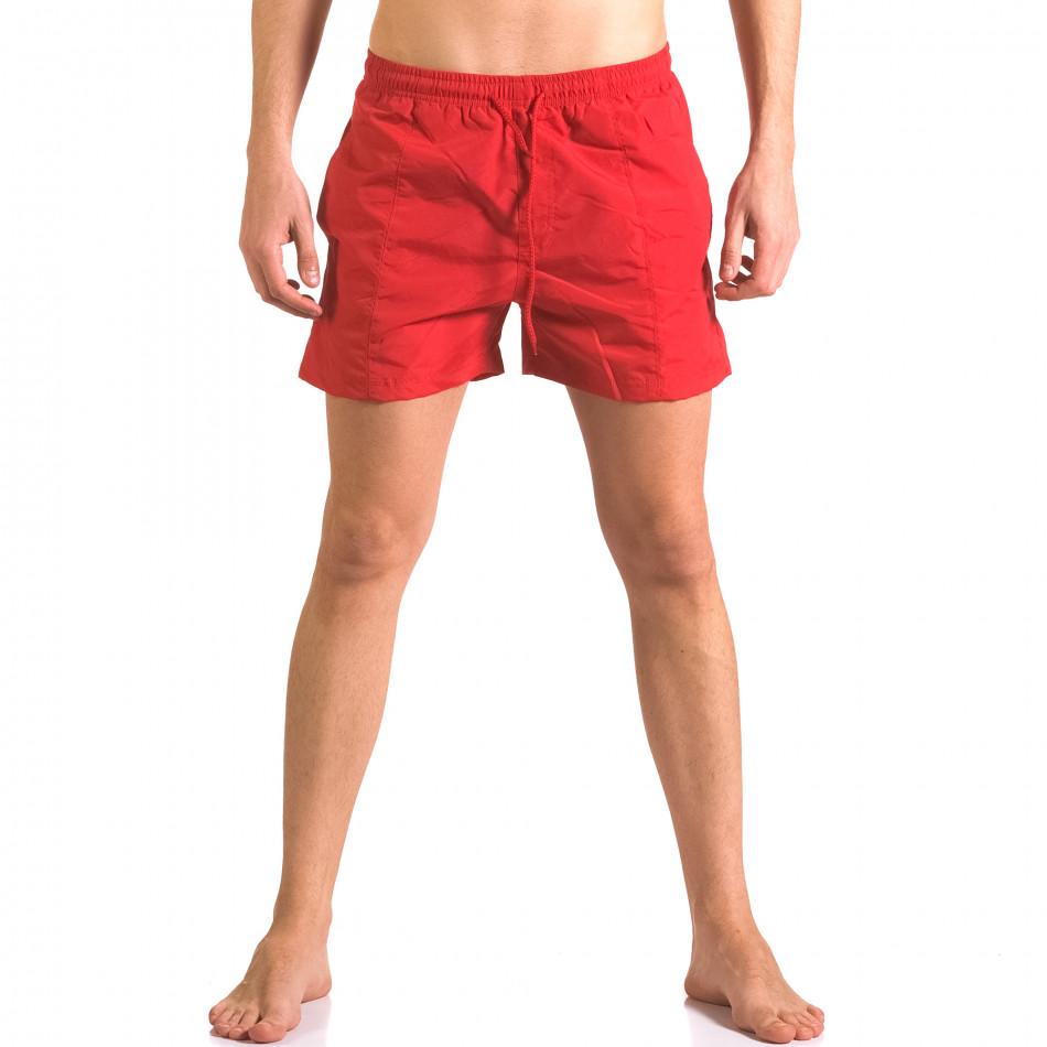 Мъжки червени бански шорти от бързосъхнеща материя ca050416-19