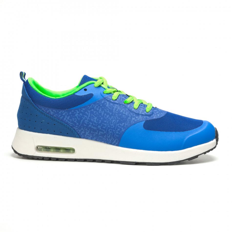 Сини мъжки маратонки с въздушни камери it210416-6