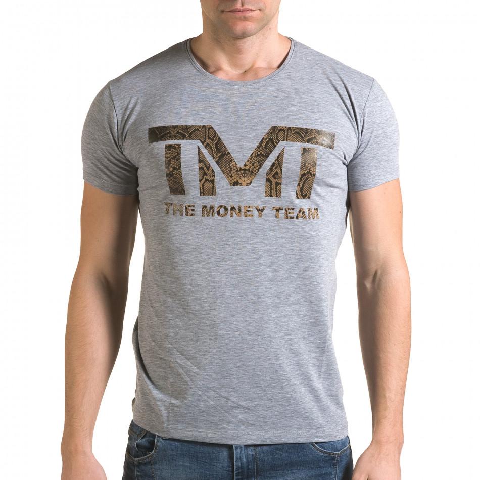 Мъжка сива тениска TMT il120216-62