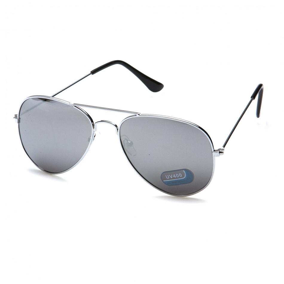 Мъжки сиви слънчеви очила авиаторски it151015-3