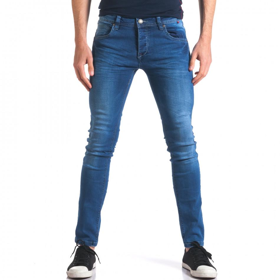 Мъжки сини дънки класически модел it250416-26