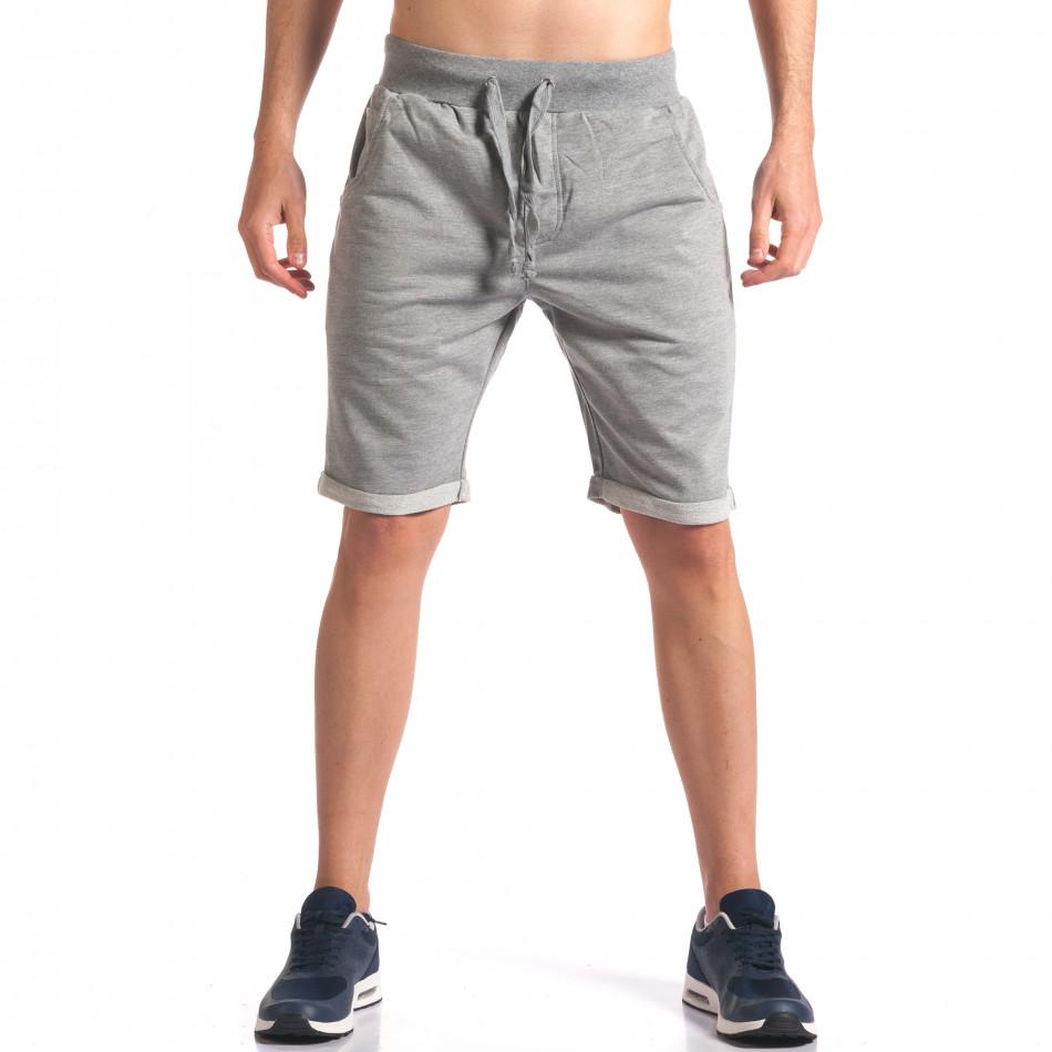 Сиви мъжки шорти за спорт it260416-28
