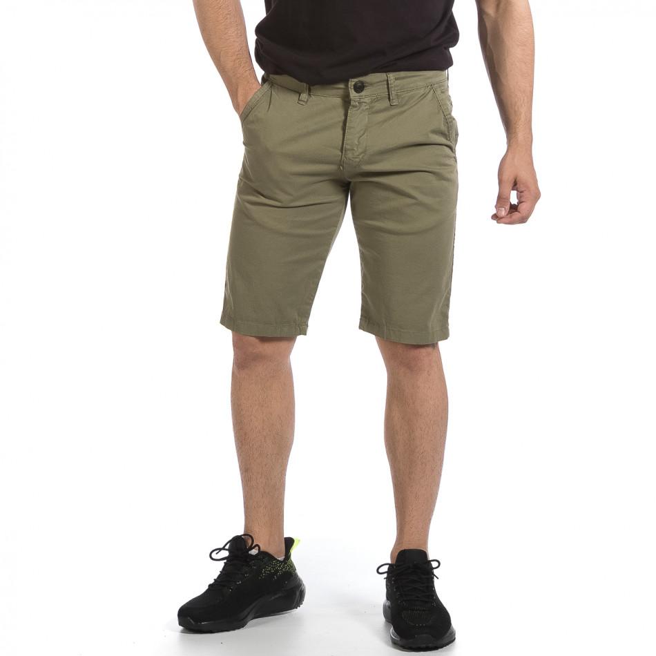 Мъжки зелени къси панталони & Big Size tr040621-27