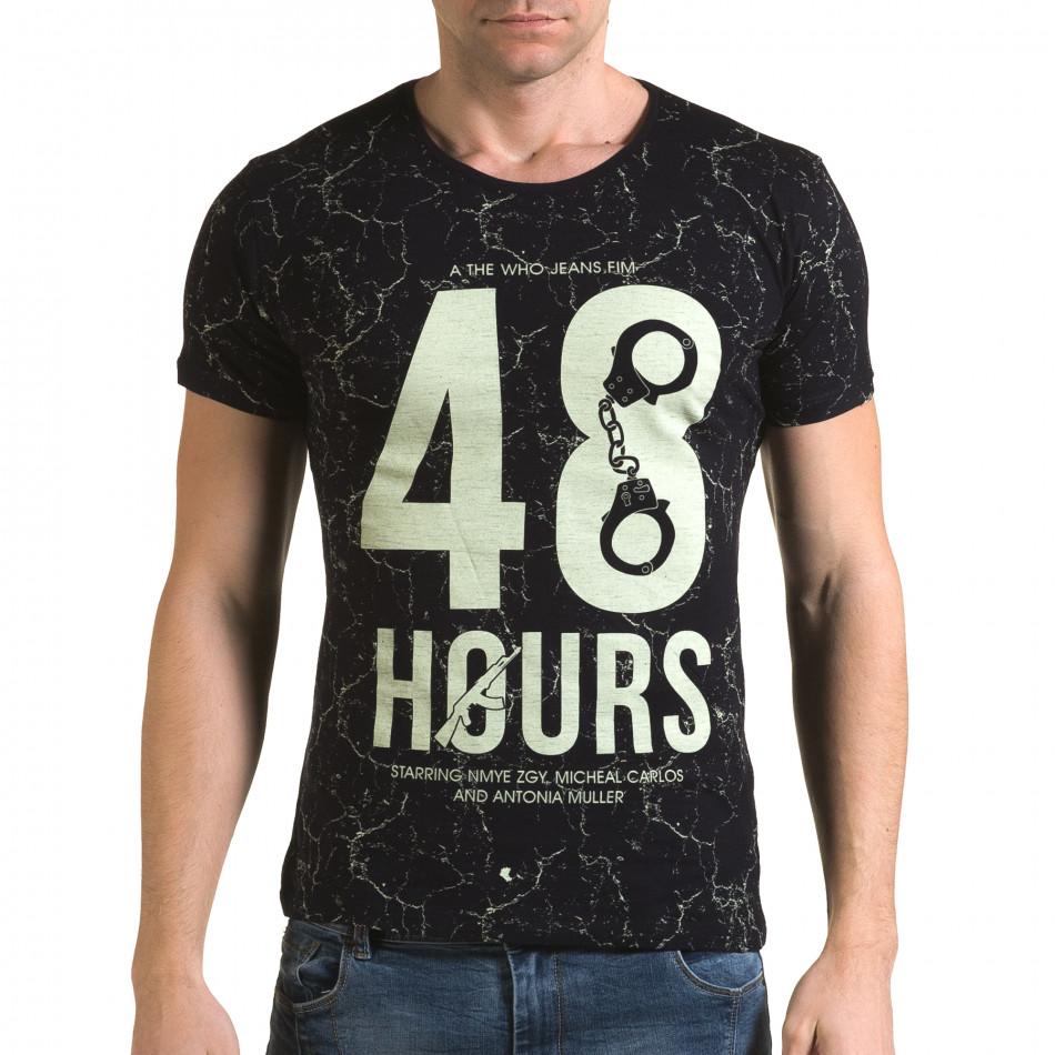 Мъжка синя тениска 48 Hours il120216-5