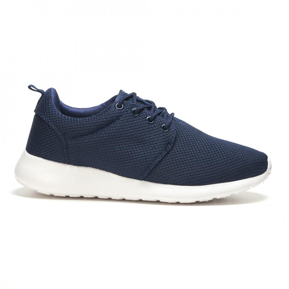Тъмно сини мъжки маратонки ултра лек модел it210416-1