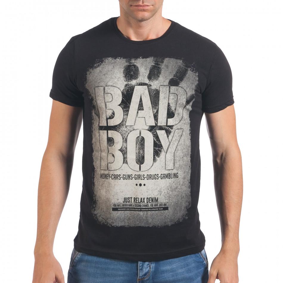 Мъжка черна тениска Bad Boy il060616-6