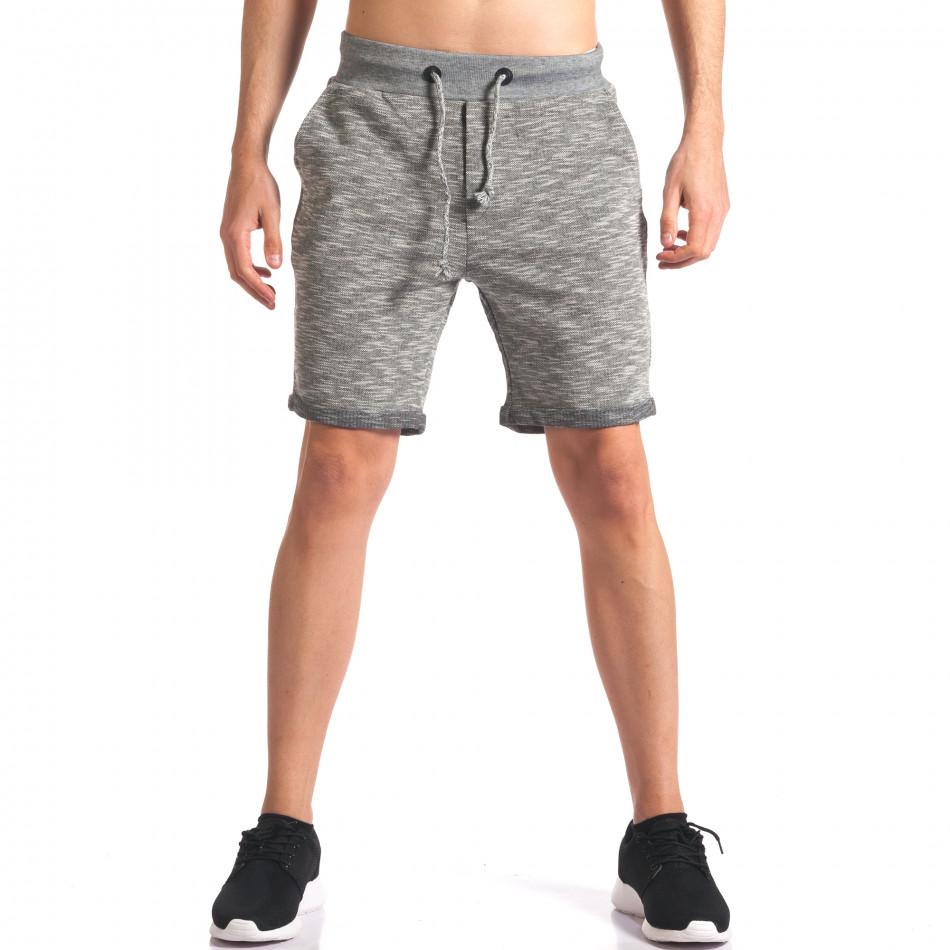 Мъжки сиви спортни шорти it250416-11