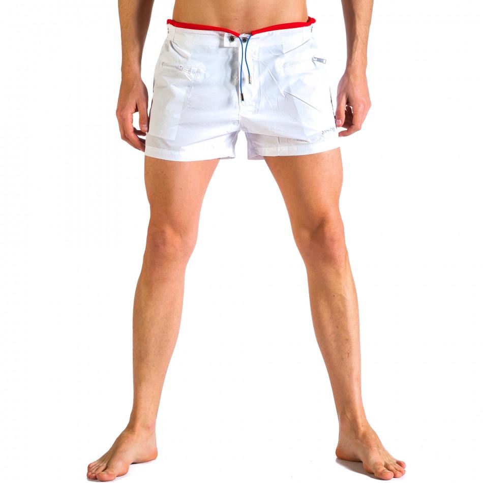 Мъжки бели бански с бандаж it250416-61