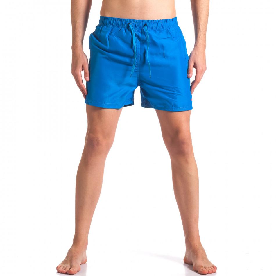 Мъжки сини бански с джобове it250416-59