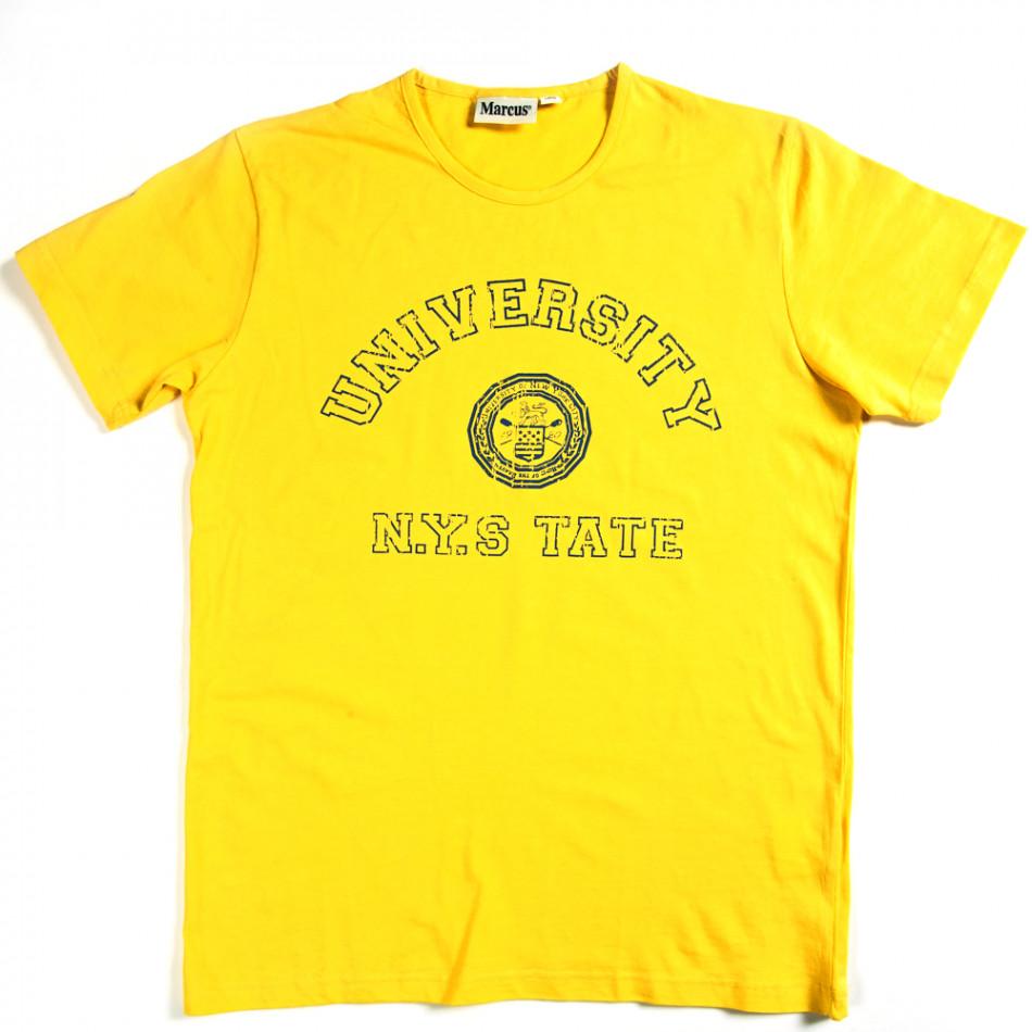 Мъжка тениска Marcus с щампован надпис 070213-1